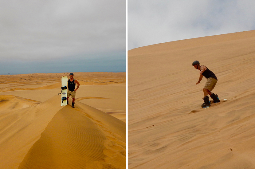 Sandboarding on the Six Day Dunes and Wildlife Experience
