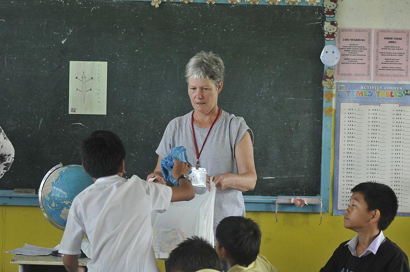 Person Volunteering in Borneo