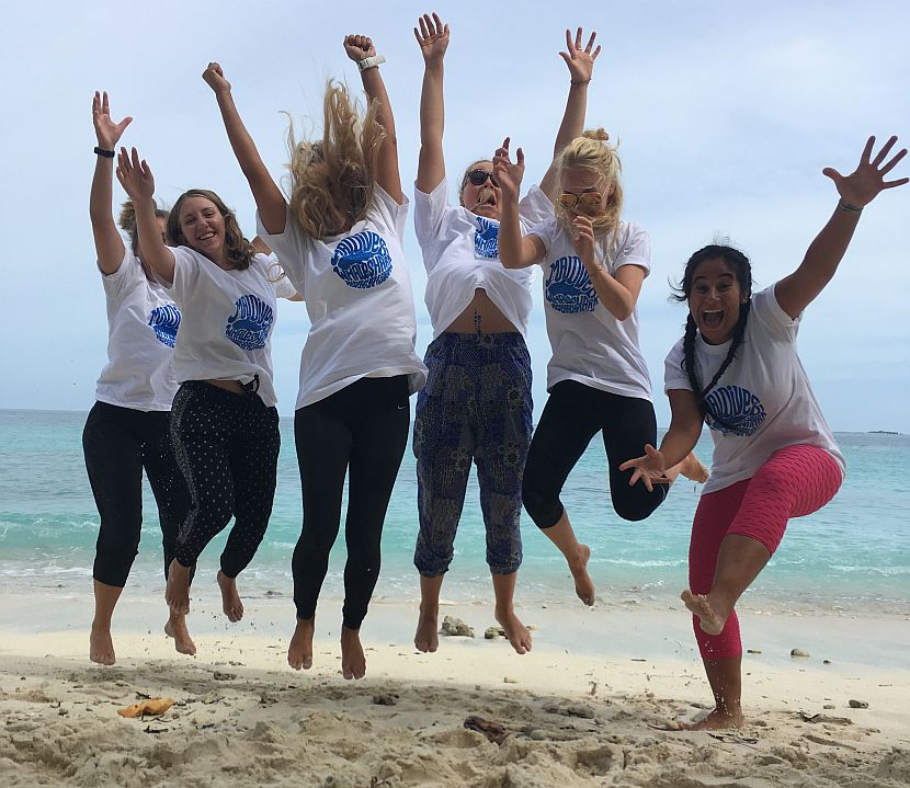 Volunteer group in the Maldives