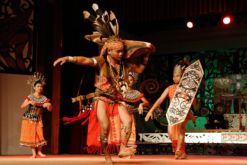 Kuching cultural village dancers