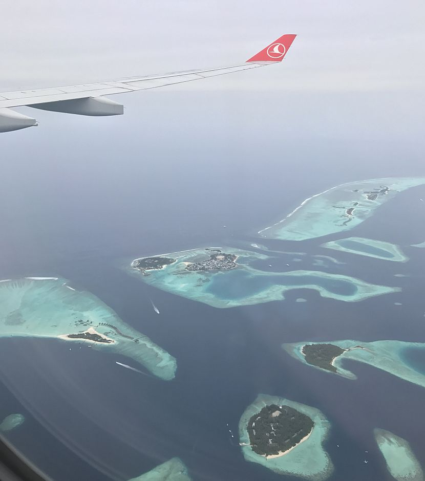 The Maldives from the air