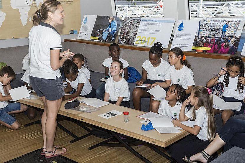 School children aboard Race for Water