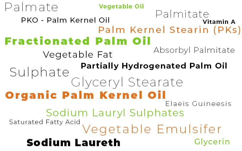 Alternative Names for Palm Oil