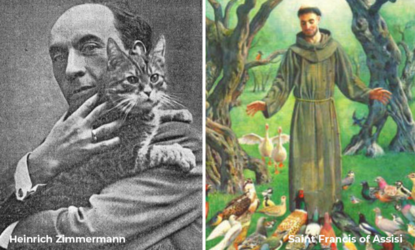 Heinrich Zimmermann and Saint Francis of Assisi