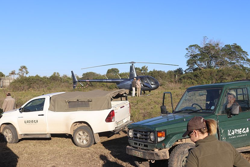 Helicopter in South Africa