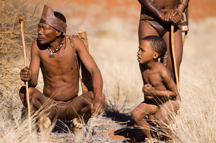 Sans Tribe People In Namibia