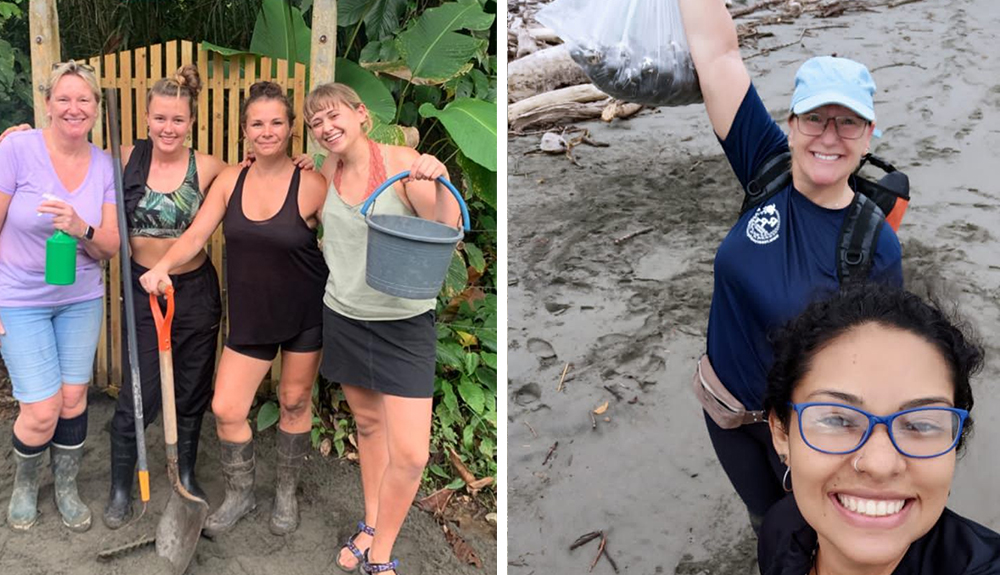 Volunteers on the Costa Rica Turtle Experience