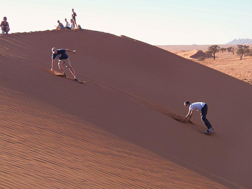 Sandboarding at Kanaan Research Site