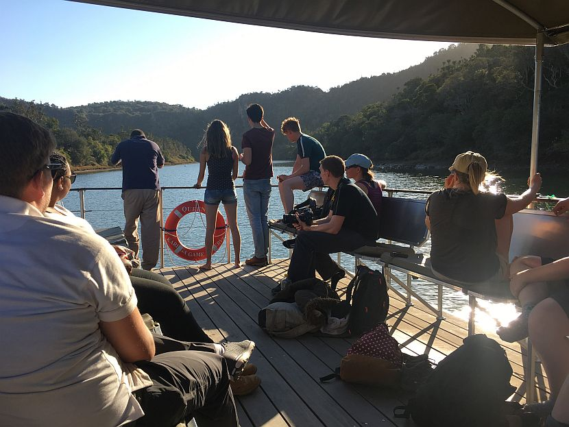Volunteer boat ride
