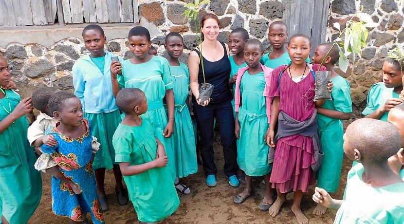 Uganda Volunteering at a school