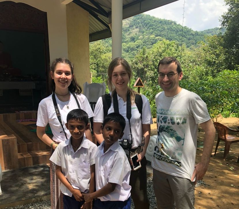 Volunteers And Locals Interact In Sri Lanka