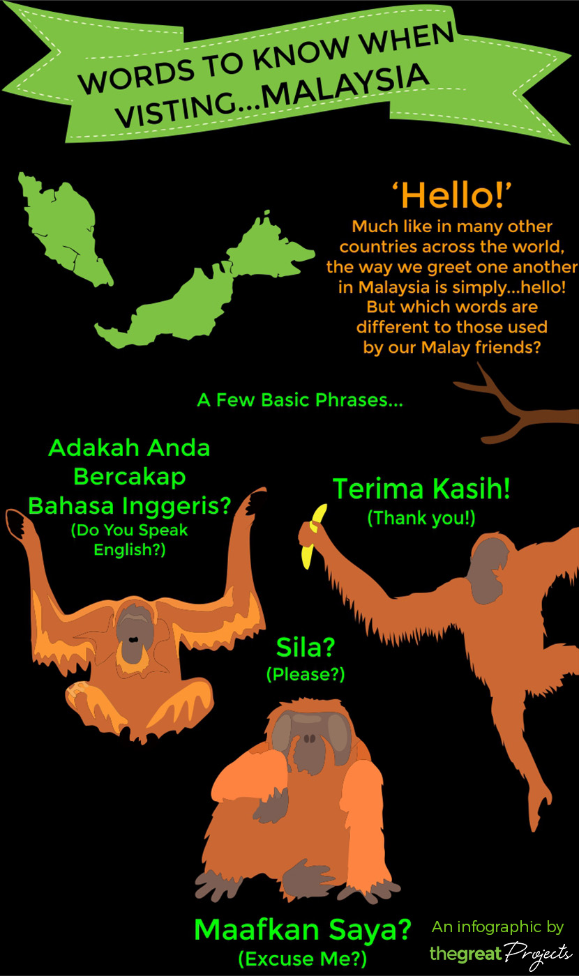 Malay Language Infographic