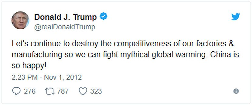 Donald Trump global warming tweet