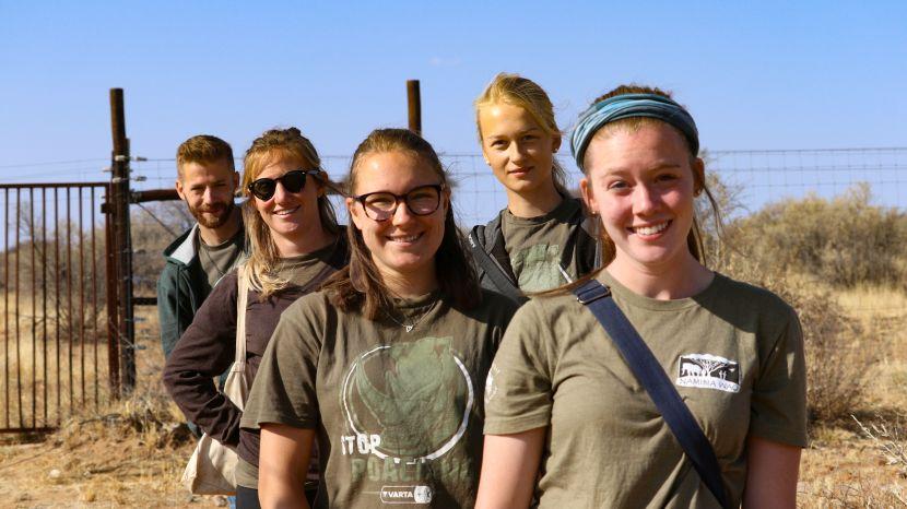 Volunteers At The Namibia Wildlife Sanctuary