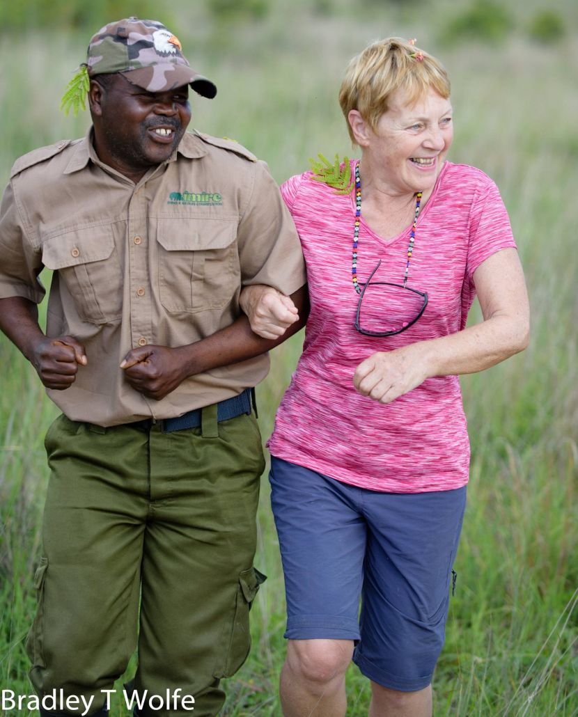 Happy Volunteer on Rhino and Elephant Conservation Project